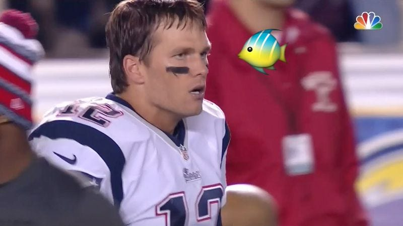 Illustration for article titled And now, Tom Brady gets angry at a fish