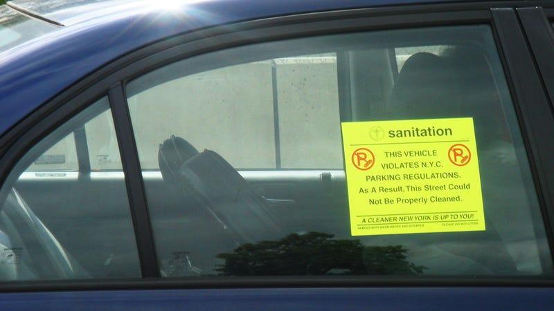 new york city bans alt side parking sticker of shame. Black Bedroom Furniture Sets. Home Design Ideas
