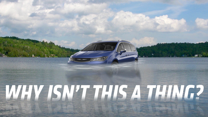 Illustration for article titled Some Major Automaker Needs to Make an Amphibious Minivan and I'm Not Even Kidding