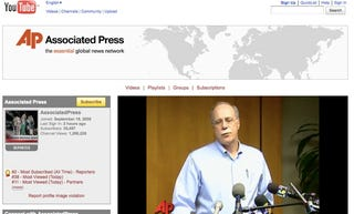 Illustration for article titled AP Threatens to Sue AP Affiliate for Embedding Official AP YouTube Vids