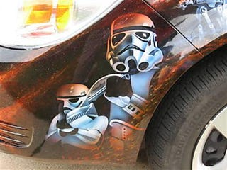 Illustration for article titled Star Wars-Themed Chevy Cobalt Should Go To A Galaxy Far, Far Away