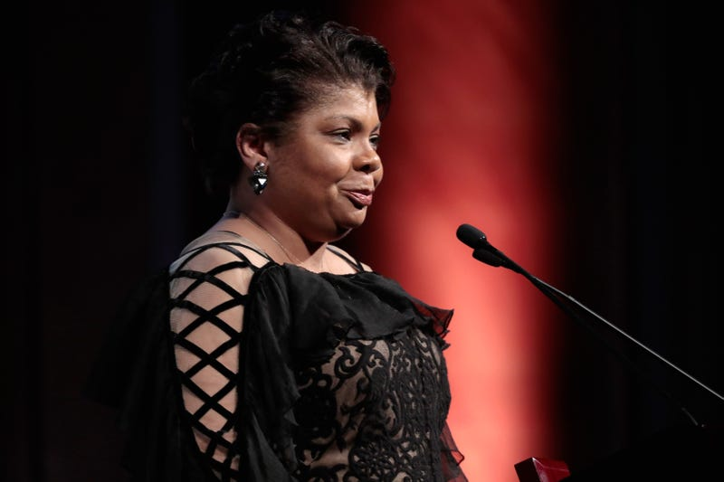 April Ryan accepts the WMC She Persisted Award onstage at the Women's Media Center 2017 Women's Media Awards at Capitale on Oct.. 26, 2017, in New York City. (Cindy Ord/Getty Images for Women's Media Center)