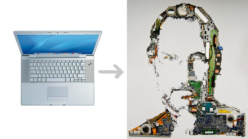 Illustration for article titled MacBook Pro Turned Into Tribute Portrait of Steve Jobs