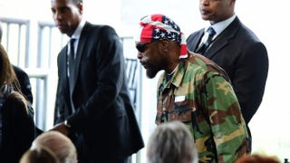 Actor Mr. T arrives for the funeral service of former first lady Nancy Reagan on March 11, 2016, at the Ronald Reagan Presidential Library in Simi Valley, Calif.FREDERIC J. BROWN/AFP/Getty Images