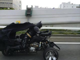 Illustration for article titled Batman Spotted on a Japanese Highway