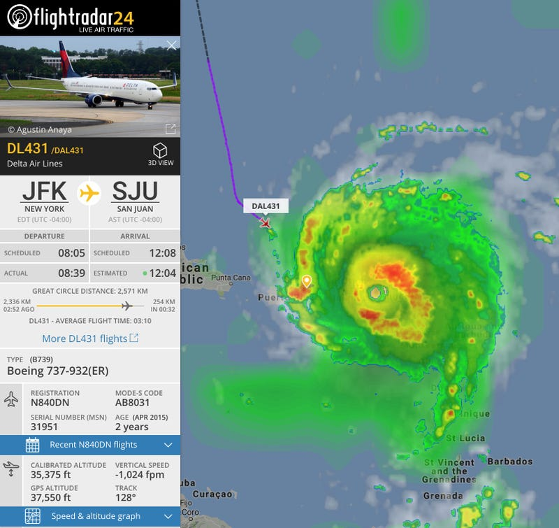 Delta makes daring flight into Irma