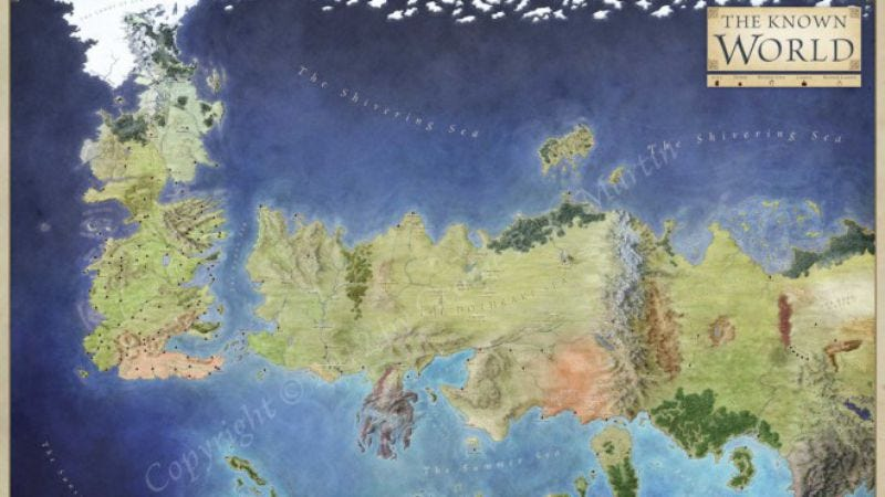 Illustration for article titled Read this: Here are some cartography tips from the guy who mapped Westeros