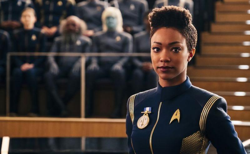 Michael Burnham (Sonequa Martin-Green) in the season finale of Star Trek: Discovery.