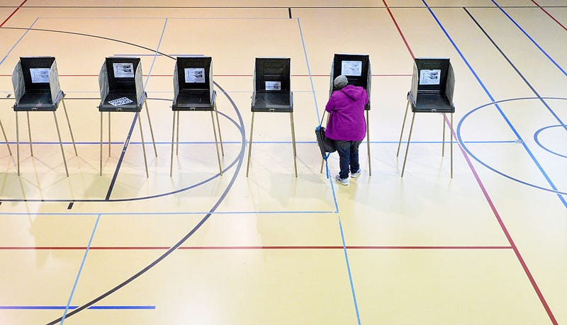 A woman votes on Nov. 8, 2016, in Durham, N.C. African-American voter turnout was reportedly low across the battleground state. Sara D. Davis/Getty Images