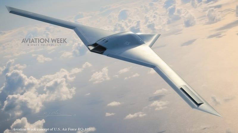 Illustration for article titled Revealed: Pentagon's new superspy plane hiding in secret Area 51 hangar