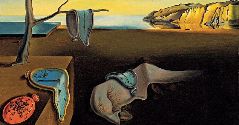 """New research suggests it's possible to detect neurodegenerative disorders in artists before they are diagnosed. This 1931 painting from Salvador Dali exhibits a different """"fractal fingerprint"""" compared to his later works—one indicative of Parkinson's disease. (Image: Dali, The Persistence of Memory, 1931)"""