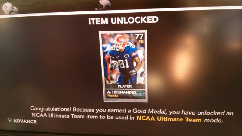 Illustration for article titled Aaron Hernandez's Appearance in NCAA 14 Will Be Brief, says EA Sports