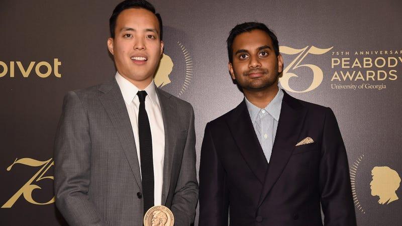Alan Yang and Aziz Ansari at this year's Peabody Awards