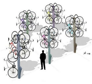 Illustration for article titled Preventing Bike Theft by Parking Bikes Up in the Air