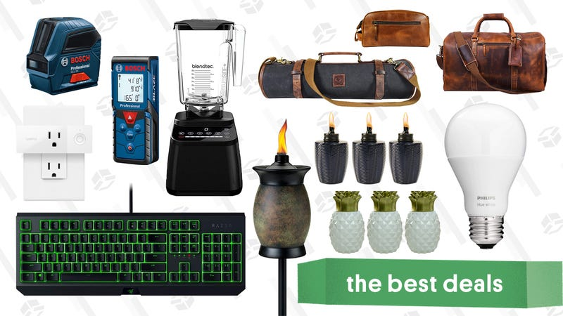 Illustration for article titled Saturday's Best Deals: Nintendo Switch, Philips Hue Bulbs, Tiki Torches, Cat Lounges, and More