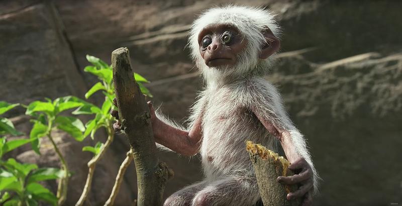Illustration for article titled Un grupo de monos llora desconsoladamente la muerte de un animatronic que usaban para grabarles