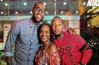 LeBron James, Gloria James and Da Real Lambo during happier times (@dareallambo via Instagram)