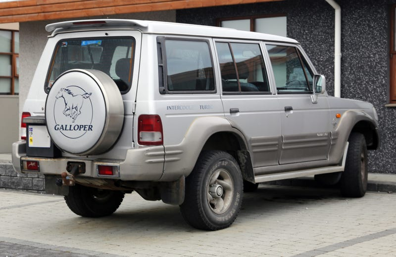 Illustration for article titled The Hyundai Galloper was a car that existed.