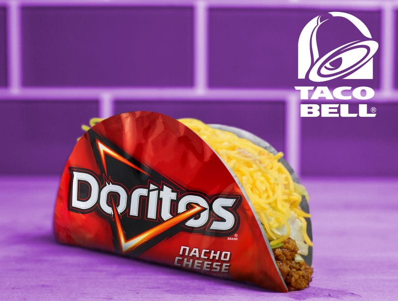 Illustration for article titled Taco Bell Unveils New Taco With Shell Made From Doritos Bags