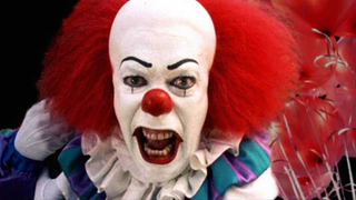Tim Curry as Pennywise.