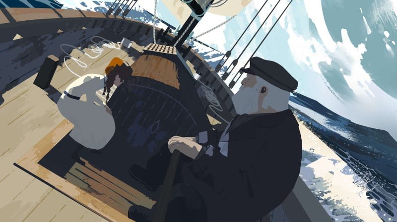 """A snippet from Spotlight Stories' most recent short, """"Age of Sail."""""""