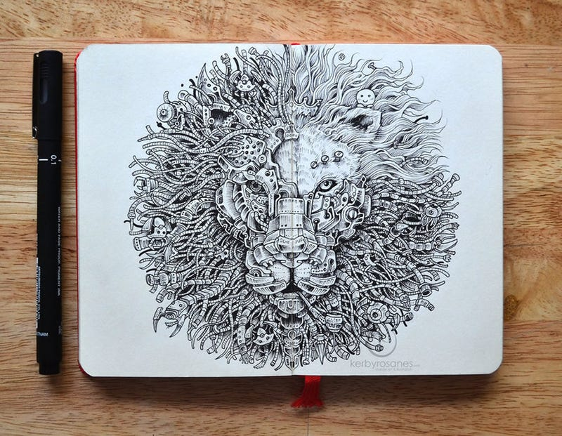 Illustration for article titled You can get lost for hours in these insanely intricate doodles