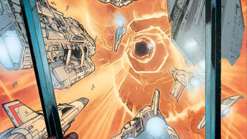 Battlestar Galactica #1 Cover A by Alex Sanchez