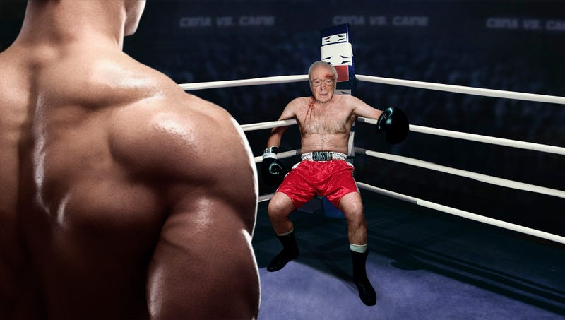 Deeply Troubling: This Boxing Match Between John Cena And Michael Caine Seemed Like It Was Going To Be For A Good Cause But No Charities Appear To Be ...