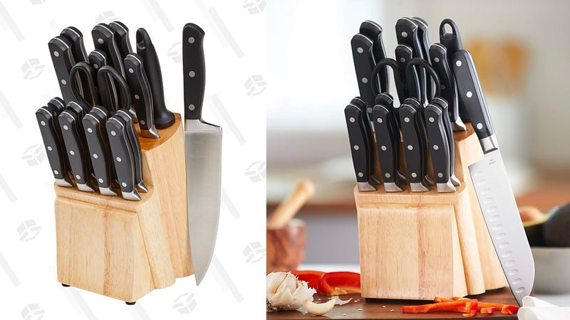 AmazonBasics Premium 18-Piece Knife Block Set | $42 | Amazon