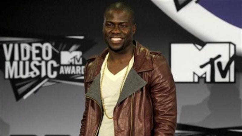 Illustration for article titled Kevin Hart elected to provide merrymaking at MTV's annual bestowing of awards upon musical videos