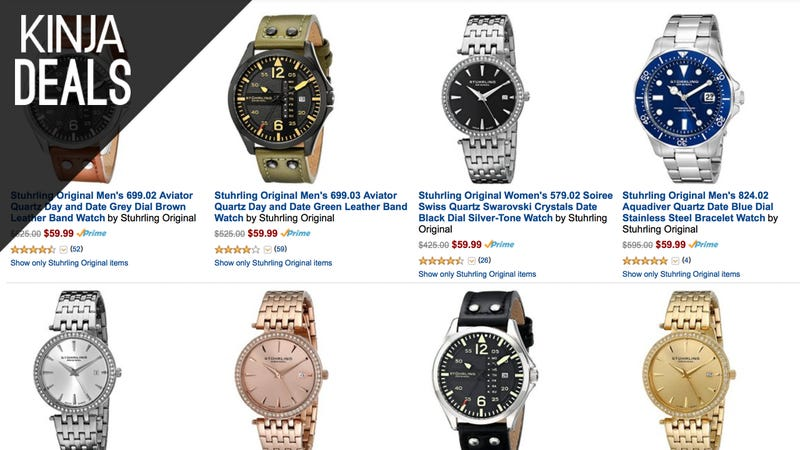 Illustration for article titled Choose a New Watch for $60, Today Only