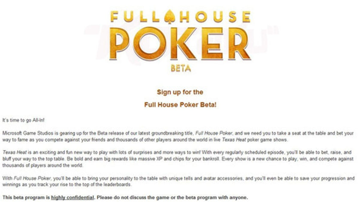 Microsoft Is Beta Testing An Episodic Xbox Live Poker Game Show