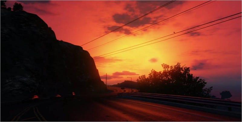 Illustration for article titled Los timelapse en GTA V son tan espectaculares como los de verdad