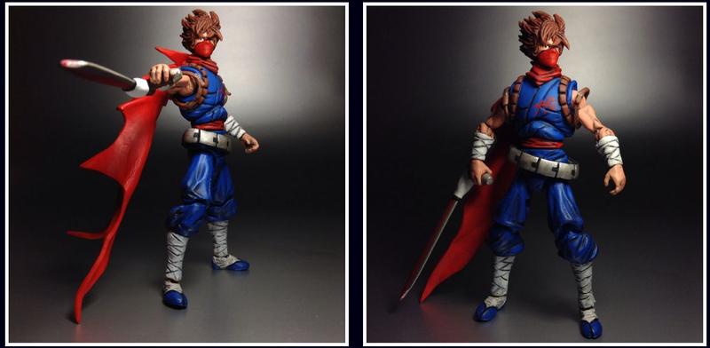 Illustration for article titled Strider Hiryu Custom Action Figure