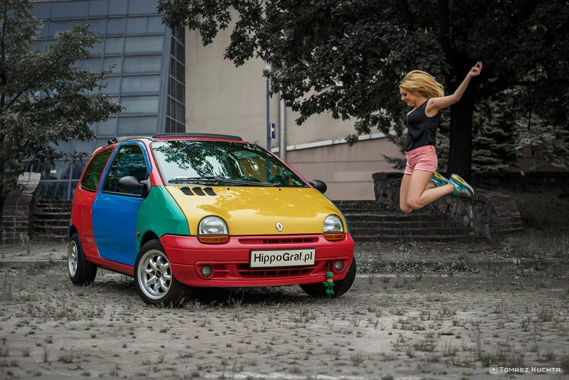 Illustration for article titled You've heard of the Harlequin Golf, but what about the Graffiti Twingo?