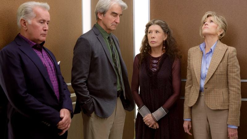 """Illustration for article titled Grace And Frankie: """"The Elevator"""""""