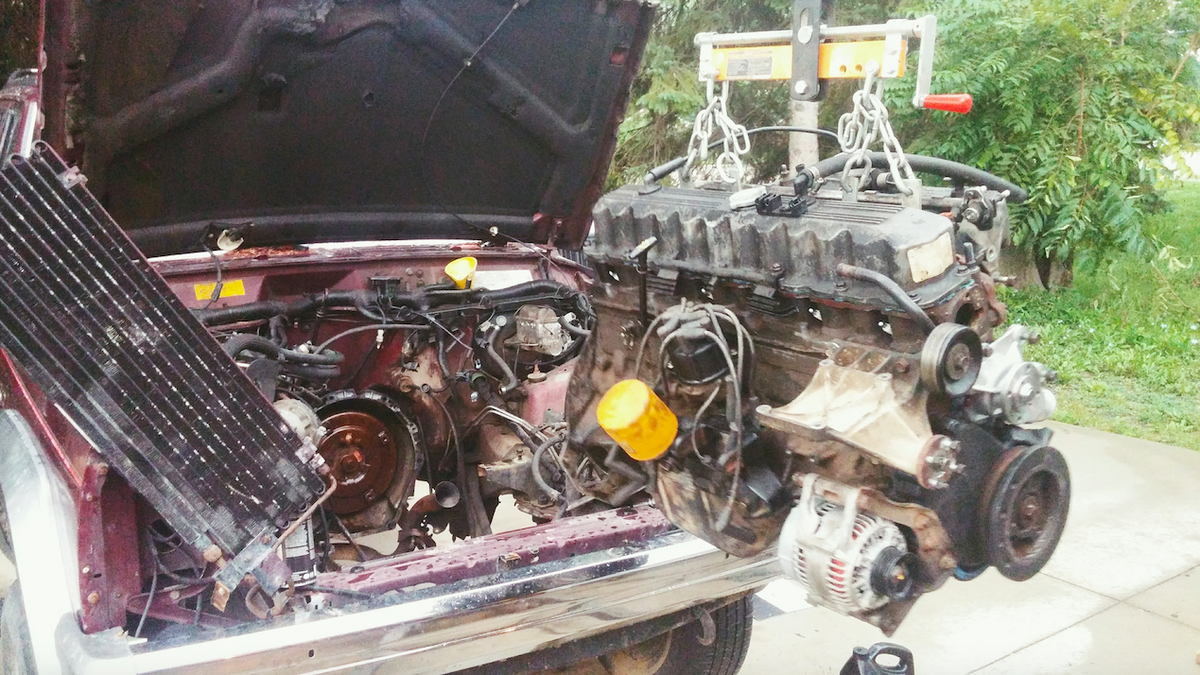Heres What Happened When I Put A 120 Craigslist Engine Into My Jeep 1994 Mercedesbenz E320 Wiring Harness W01331715517 Genuine