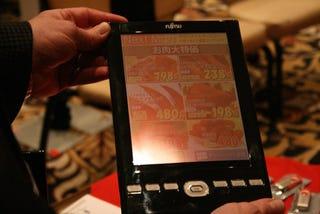 Illustration for article titled Hands On: Fujitsu FLEPia Color eBook Reader Should Stay In Japan Until It's Done