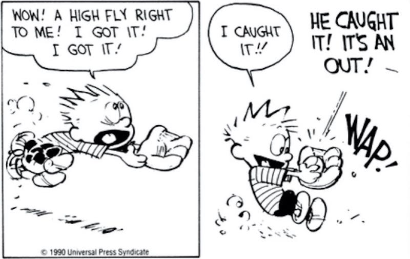 calvin and hobbes showed the trouble with organized sports and