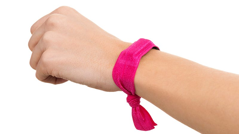 Illustration for article titled This Hair Tie Is For Lunatics Who Need a Case For Their Fitness Tracker