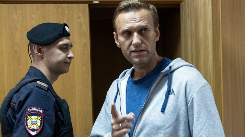 Alexei Navalny in court in August 2018.
