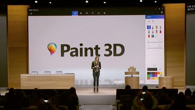 Microsoft Paint Gets a Huge 3D