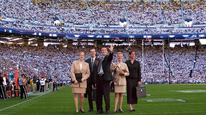 Illustration for article titled Penn State Honors Legendary 2012 Legal Team During Halftime
