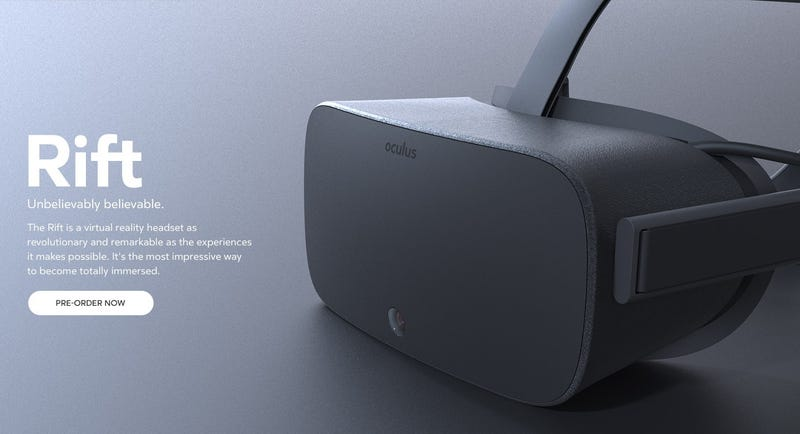 Illustration for article titled Giant Leak Shows Us How The Final Oculus Rift Looked in 2014