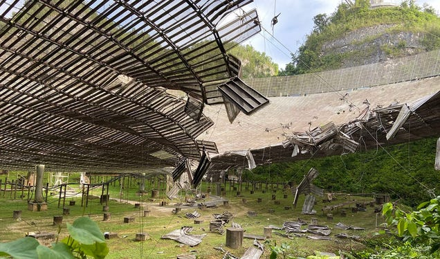 Iconic Dish at Arecibo Observatory Has Collapsed