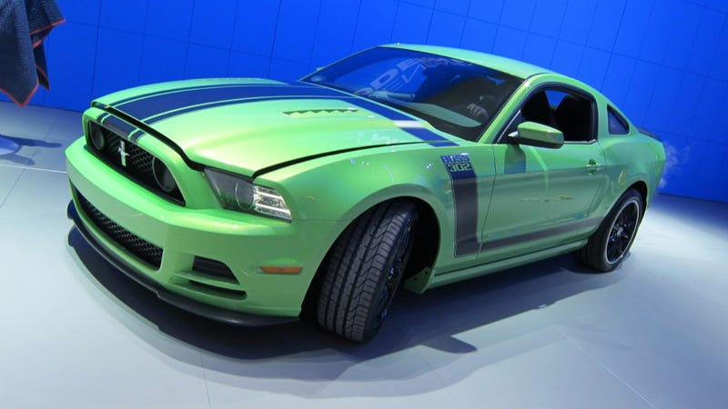 Illustration for article titled 2013 Boss 302 Mustang: Gotta Have It Green First Photos