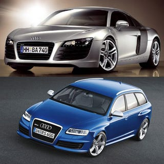 Illustration for article titled Audi RS6 Avant or Audi R8, Which Is The Fastest?