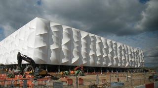 Illustration for article titled London's Olympics Basketball Stadium Looks Inflatable But Is Actually Recyclable