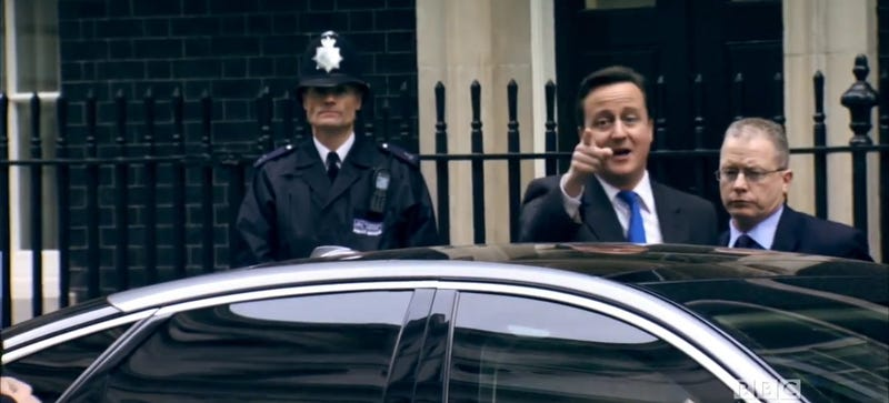 """Screenshot of Cameron telling TG to """"Stay away from India."""" Credit: BBC"""