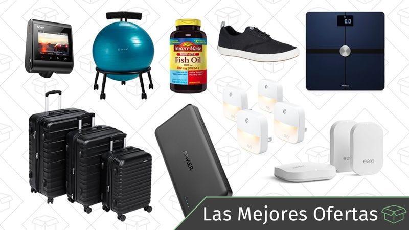 Illustration for article titled Las mejores ofertas de este miércoles: Báscula inteligente, Router Eero Mesh, maletas y más